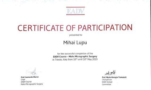 chirurgie micrografica Mohs Trieste 2019 EADV