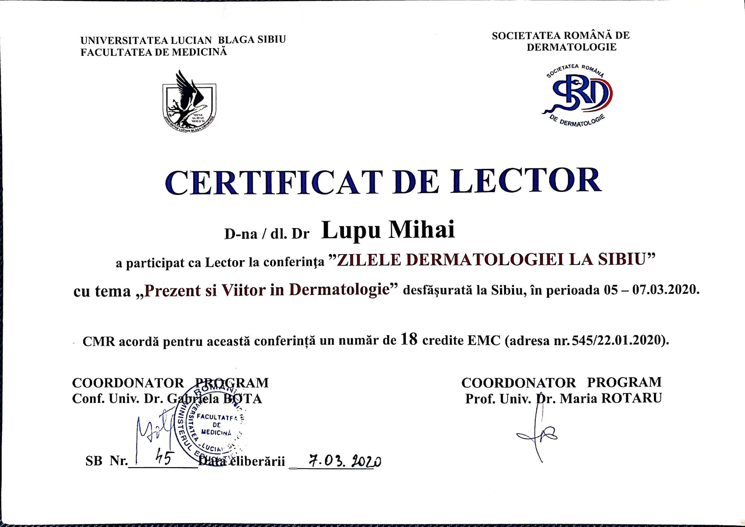 conferinta de dermatologie la sibiu